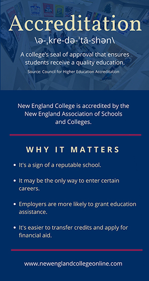 Choose an accredited college